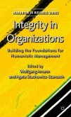 Integrity in Organizations: Building the Foundations for Humanistic Management