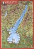 Reliefpostkarte Gardasee
