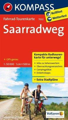 KOMPASS Fahrrad-Tourenkarte Saarradweg