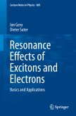 Resonance Effects of Excitons and Electrons