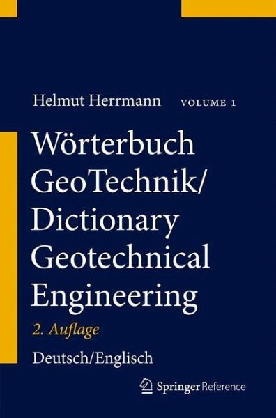 W rterbuch geotechnik dictionary geotechnical engineering for Dictionary englisch deutsch
