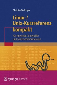 Linux-Unix-Kurzreferenz kompakt - Wolfinger, Christine