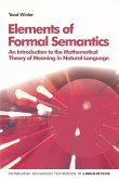 Elements of Formal Semantics: An Introduction to the Mathematical Theory of Meaning in Natural Language
