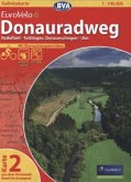 BVA Radreisekarte EuroVelo 6, Donauradweg - Radolfzell - Tuttlingen, Donaueschingen - Ulm