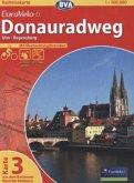 BVA Radreisekarte EuroVelo 6, Donauradweg - Ulm - Regensburg