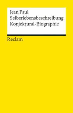 Selberlebensbeschreibung\Konjektural-Biographie - Jean Paul