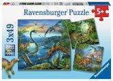 Ravensburger 09317 - Faszination Dinosaurier, Puzzle, 3x49 Teile