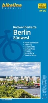 Bikeline Radwanderkarte Berlin Südwest