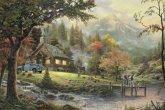 Schmidt 58465 - Thomas Kinkade: Idylle am Fluss, 500-teiliges Puzzle