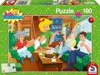 Schmidt 56047 - Bibi Blocksberg Kinderpuzzle, Geburtstagsüberraschung, 100 Teile