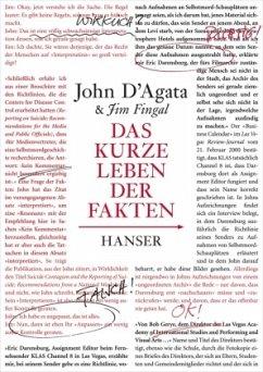 Das kurze Leben der Fakten - D'Agata, John;Fingal, Jim