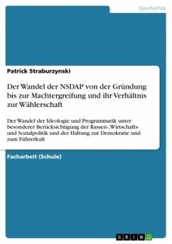 Der Wandel der NSDAP von der Gründung bis zur Machtergreifung und ihr Verhältnis zur Wählerschaft
