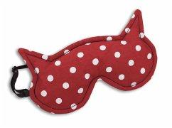 Die Katze Luna Polka dot rot, Schlafmaske