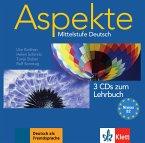 3 Audio-CDs zum Lehrbuch / Aspekte - Mittelstufe Deutsch Bd.2