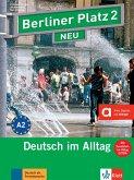 """Berliner Platz 2 NEU - Lehr- und Arbeitsbuch 2 mit 2 Audio-CDs und """"Im Alltag EXTRA"""""""