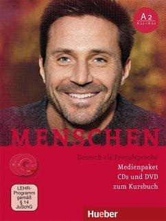 Medienpaket, 2 Audio-CDs + 1 DVD (zum Kursbuch) / Menschen - Deutsch als Fremdsprache Bd.A2 - Habersack, Charlotte; Pude, Angela; Specht, Franz