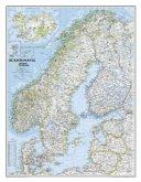 National Geographic Map Scandinavia, Planokarte