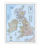 National Geographic Map Britain and Ireland, Planokarte