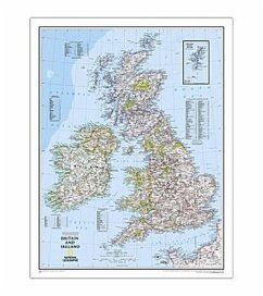 National Geographic Map Britain and Ireland, Planokarte - National Geographic Maps