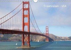 Traumreisen USA (Wandkalender immerwährend DIN A4 quer)