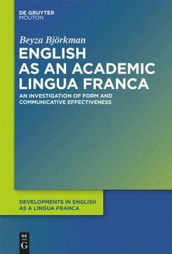 English as an Academic Lingua Franca - Björkman, Beyza