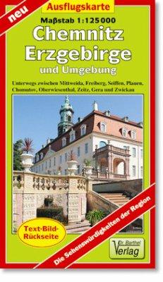 Doktor Barthel Karte Chemnitz, Erzgebirge und U...