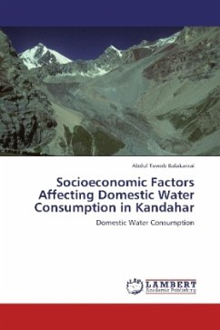 Socioeconomic Factors Affecting Domestic Water Consumption in Kandahar
