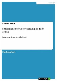 Sprachsensible Untersuchung im Fach Musik