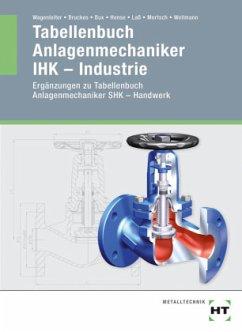 Tabellenbuch Anlagenmechaniker IHK - Industrie - Bruckes, M.; Bux, Hermann; Hense, B.