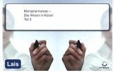 Klempnermeister - Das Wissen in Kürze