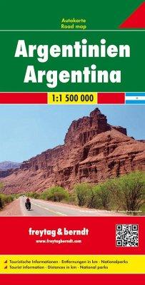 Freytag & Berndt Autokarte Argentinien 1:1.500.000; Argentina