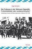 Die Freikorps in der Weimarer Republik: Freiheitskämpfer oder Landsknechthaufen? (eBook, PDF)