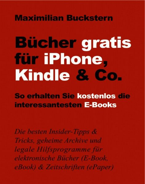 b cher gratis f r iphone kindle co ebook epub von maximilian buckstern. Black Bedroom Furniture Sets. Home Design Ideas