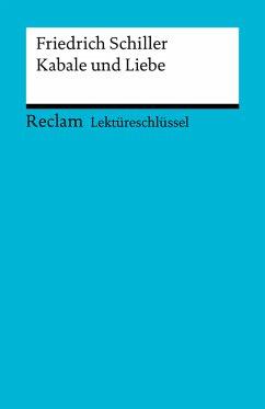 Lektüreschlüssel. Friedrich Schiller: Kabale und Liebe (eBook, ePUB) - Völkl, Bernd