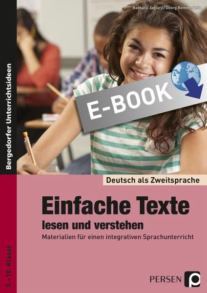 einfache texte lesen und verstehen ebook pdf von barbara jaglarz georg bemmerlein. Black Bedroom Furniture Sets. Home Design Ideas