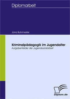 Kriminalpädagogik im Jugendalter (eBook, PDF) - Buhrmester, Jana