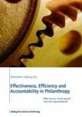 Effectiveness, Efficiency and Accountability in Philanthropy (eBook, ePUB)