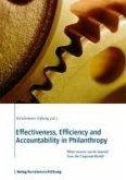 Effectiveness, Efficiency and Accountability in Philanthropy (eBook, PDF)