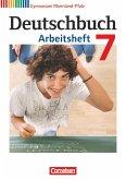 Deutschbuch 7. Schuljahr. Arbeitsheft mit Lösungen. Gymnasium Rheinland-Pfalz