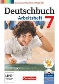 Deutschbuch 7. Schuljahr Gymnasium Nordrhein-Westfalen. Arbeitsheft mit Lösungen und Übungs-CD-ROM