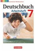 Deutschbuch 7. Schuljahr. Gymnasium Niedersachsen. Arbeitsheft mit Lösungen