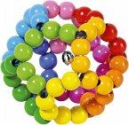 Goki 35670 - Greifling Elastik Regenbogenball, Holz