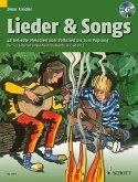 Lieder & Songs, m. Audio-CD, 1-3 Gitarren (Melodie-Instrumente in C ad lib.)