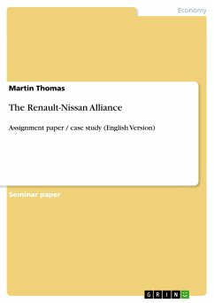 the alliance between renault nissan marketing essay The alliance between renault nissan marketing essay print in the case of renault- nissan beamish p, 2008) by forming joint study teams renault-nissan alliance.