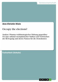 Occupy the elections?