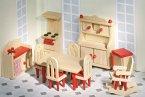 Goki 51951 - Puppenmöbel Küche für Puppenhaus, 11 teilig