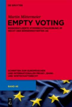 Empty Voting - Mittermeier, Martin