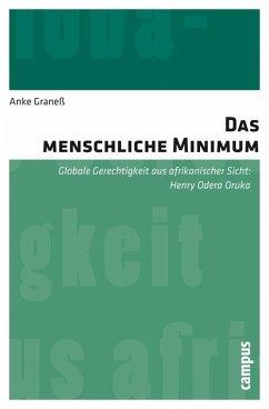 Das menschliche Minimum (eBook, PDF) - Graneß, Anke