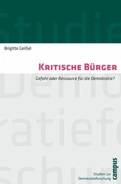 Kritische Bürger (eBook, PDF) - Geißel, Brigitte