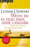 Wenn du es eilig hast, gehe langsam (eBook, PDF)